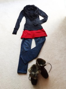 Jeans Overall Schal