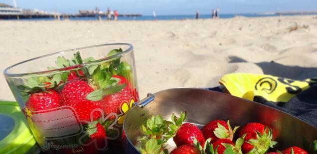 erdbeeren am strand