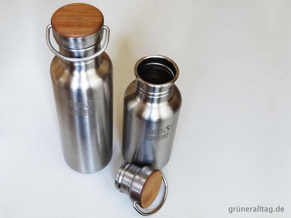 Geld, Zeit, Ressourcen und Muell sparen durch das Mitnehmen der eigenen Wasserflasche