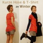 Kurze Hose und T-Shirt im Winter tragen