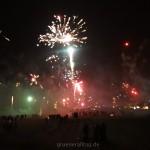 Feuerwerk am Strand in Warnemünde 2015