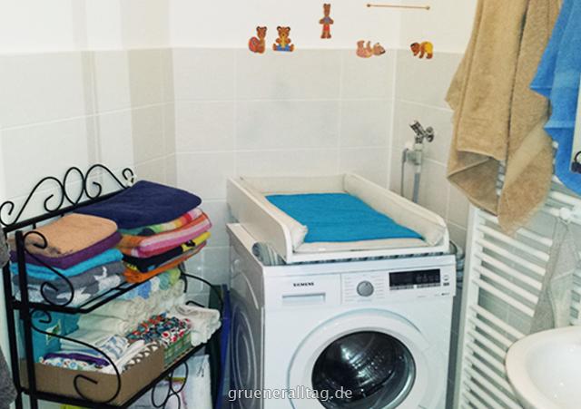 Wickelplatz auf der Waschmaschine