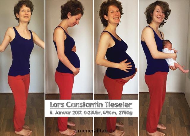 wachsender Schwangerschaftsbauch