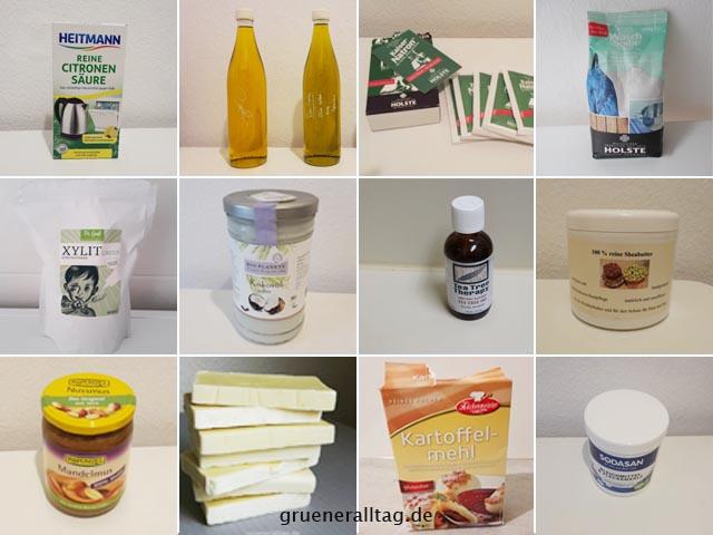 Zutaten fuer unsere selbst gemachten Zero Waste Produkte