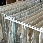 Stoffwindeln auf Wäscheständer