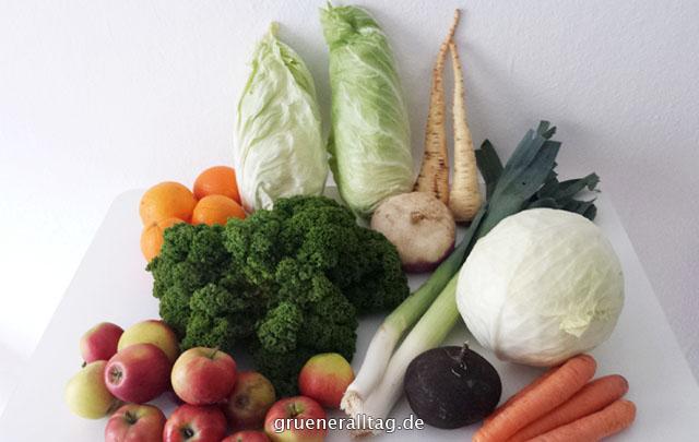 Eine Gesunde Ernährung zählt zu meinen Prioritäten. Obst und Gemüse aus der Abokiste
