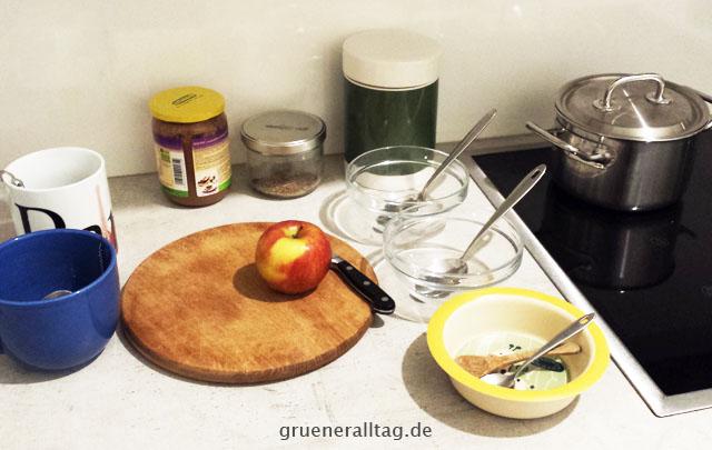 Prioritäten setzen Frühstück abends schon alles bereit legen