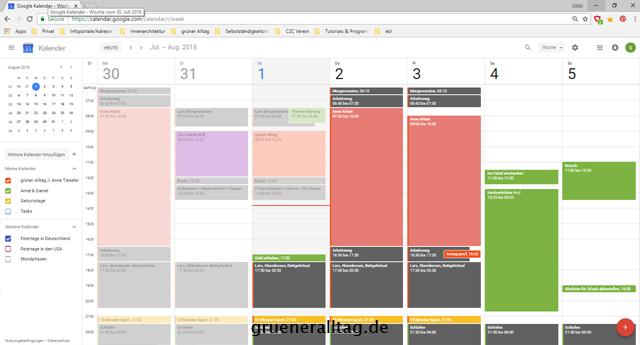 Kalender planen