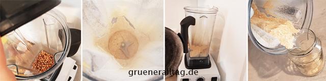 Mehl aus Kichererbsen im Hochleistungsmixer herstellen
